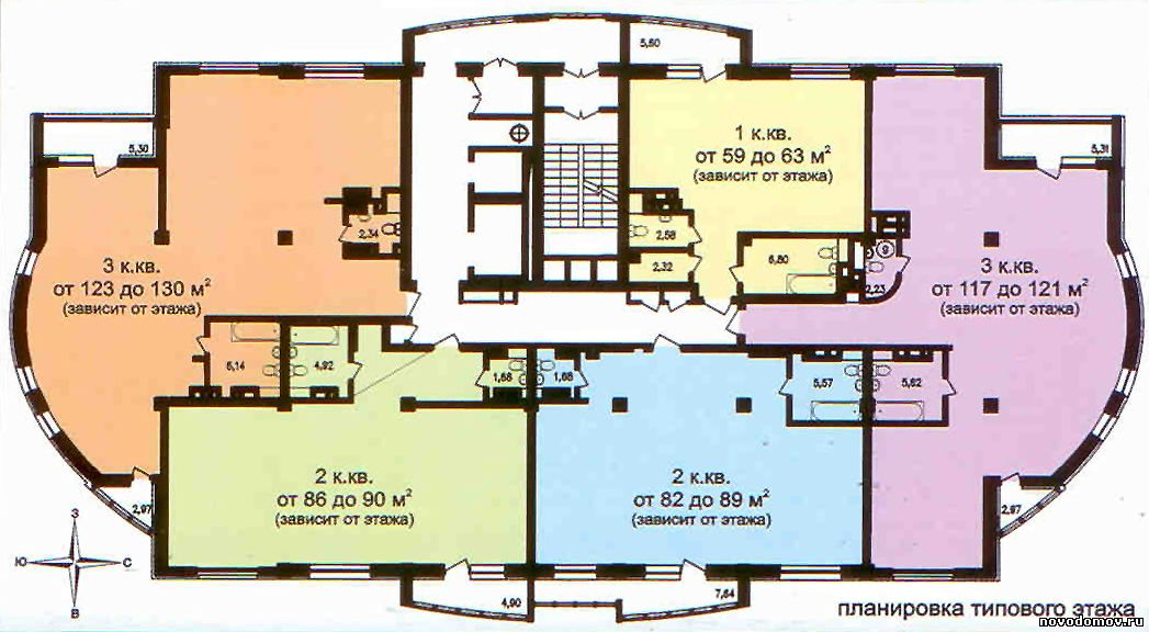 Планировка квартир Юнити